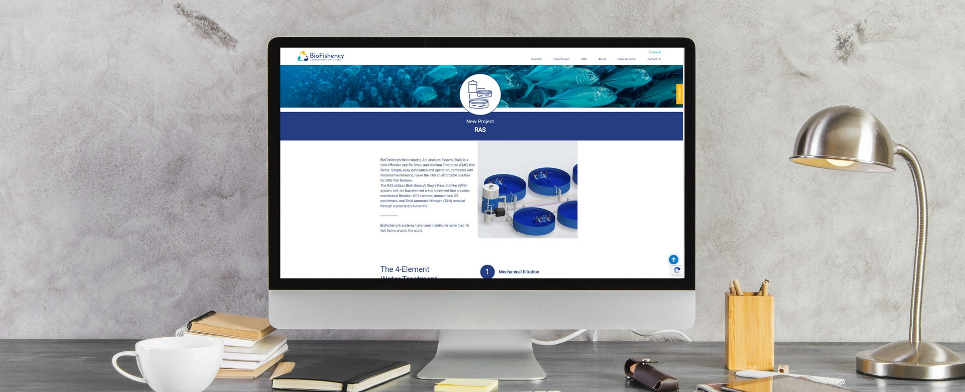 bioFishency web screen image
