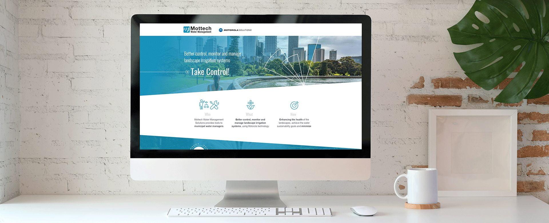 mottech landing page